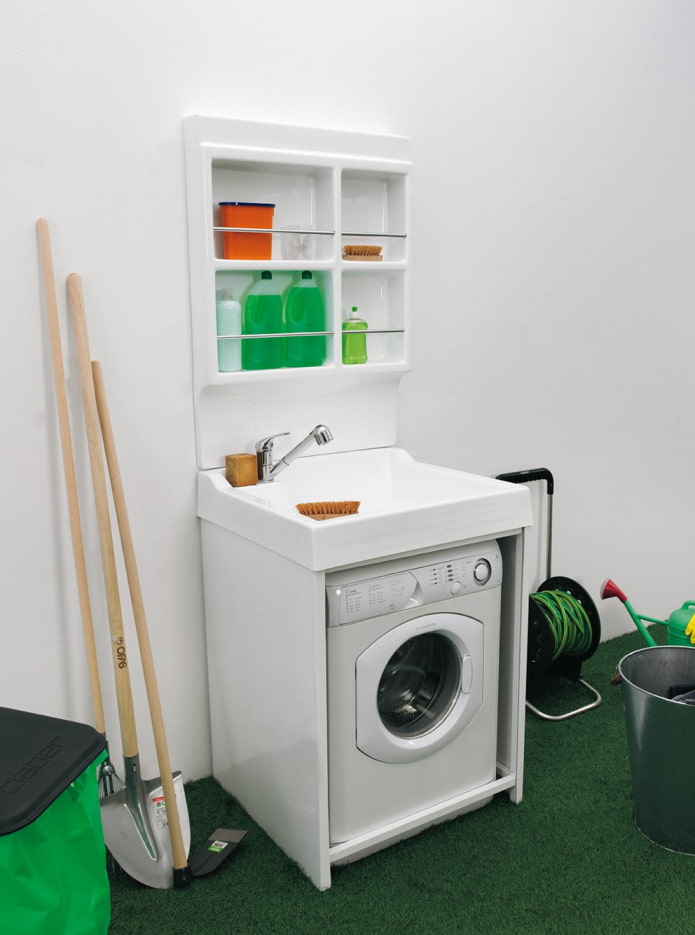 Плюсы и минусы раковины над стиральной машиной (27 фото в интерьере)