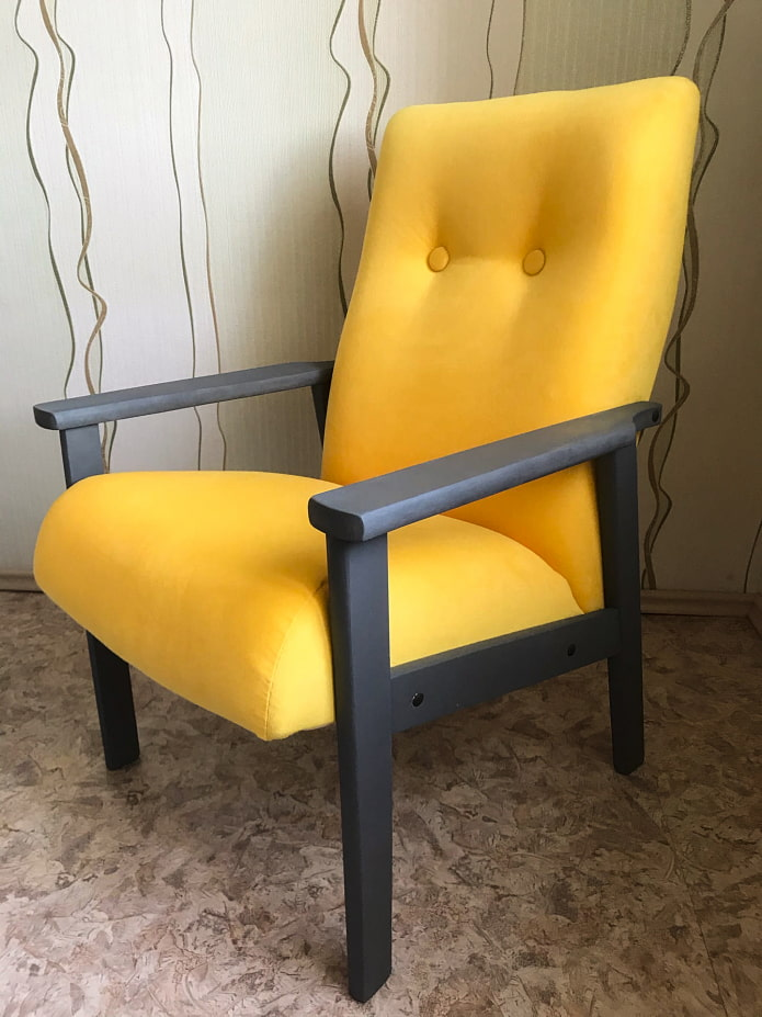Кресло после переделки