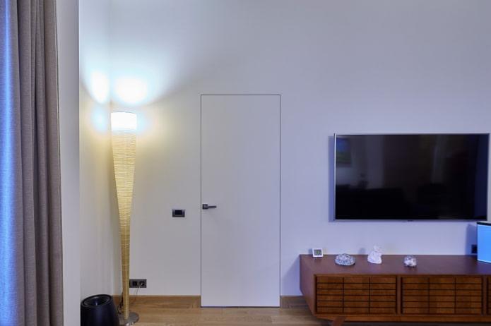 скрытая дверь в гостиной
