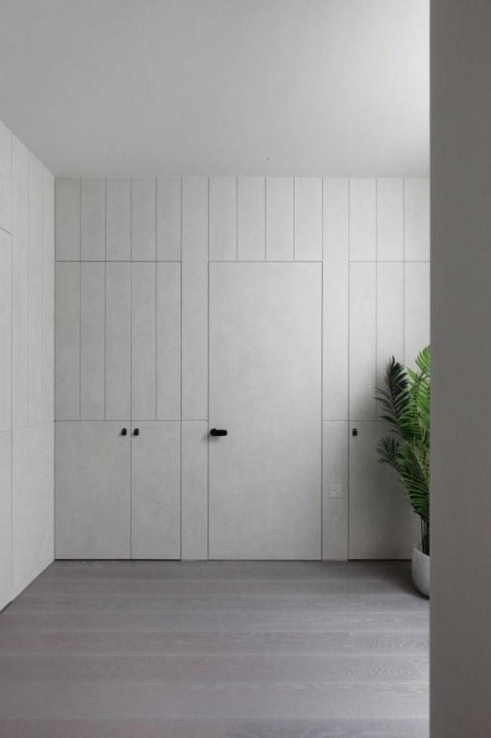 отделка скрытых дверей