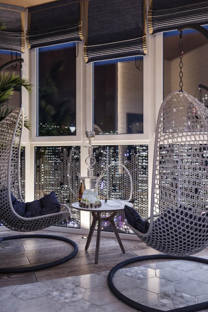 Подвесное кресло в интерьере (37 фото) выбор и идеи дизайна