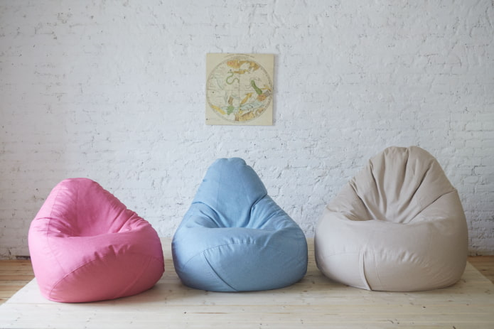 Кресло-мешок (39 фото в интерьере) советы по выбору, плюсы и минусы