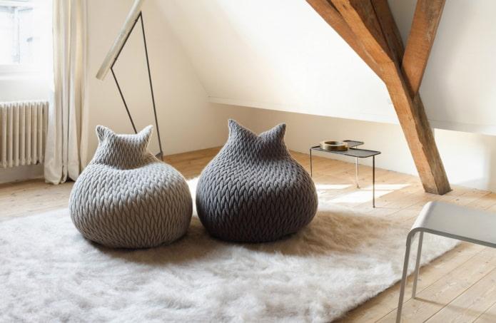 кресло-мешок в форме котика