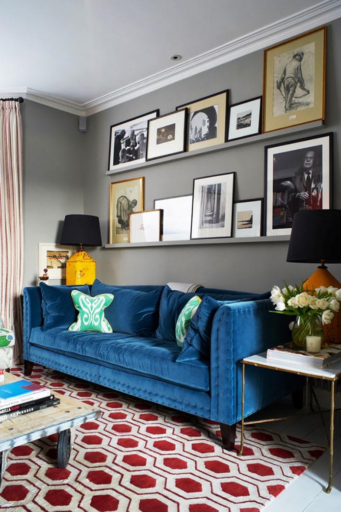 подушки на бархатный диван