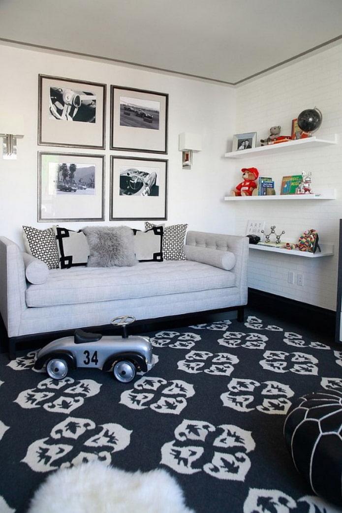 подушки на детском диване