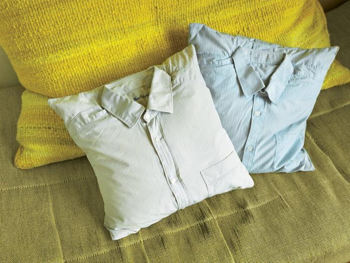 подушки из рубашек