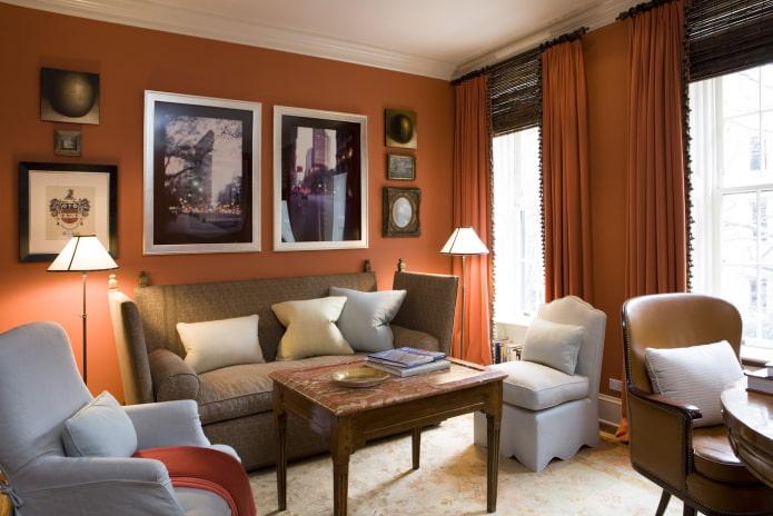 Терракотовый цвет в интерьере (51 фото) – лучшие сочетания и идеи дизайна