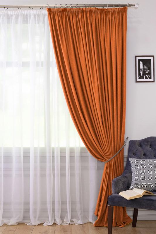 оранжевая штора