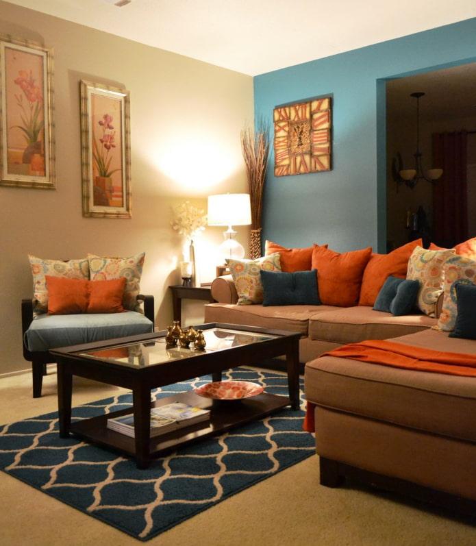 терракотовые диванные подушки