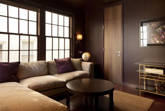 коричневая гостиная