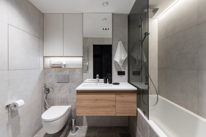 плитка под бетон в ванную