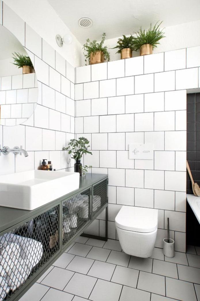 ванная комната в стиле сканди