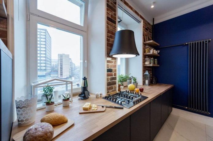 два окна на кухне