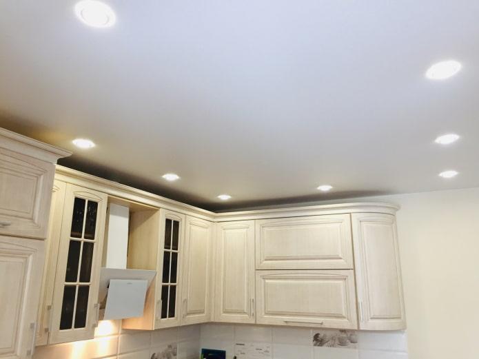схема светильников на кухне