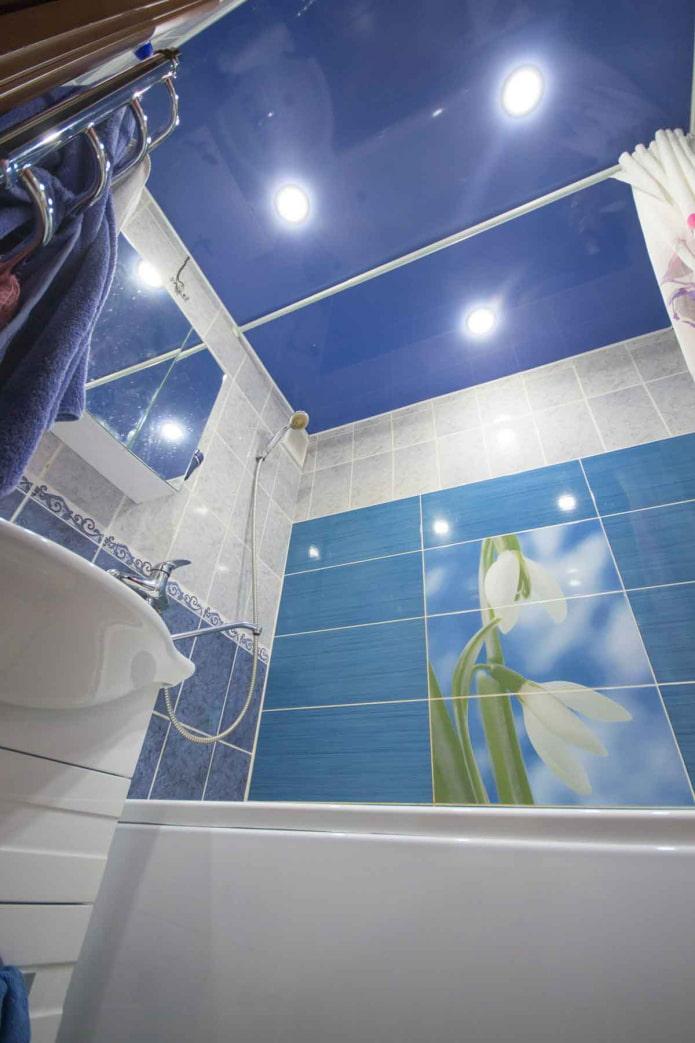 потолочный свет в ванной
