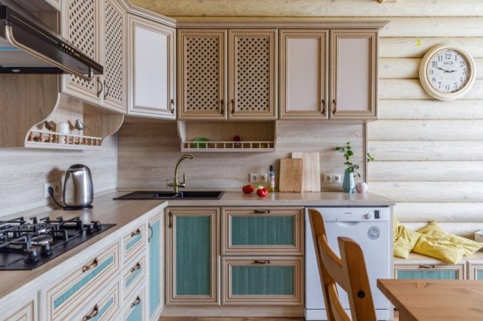 кухонная мойка с крылом в углу