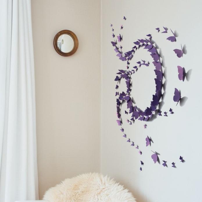 Бабочки на стену (45 фото) – идеи дизайна и 4 мастер-класса