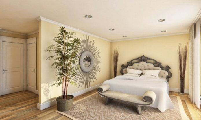 бамбук в спальне