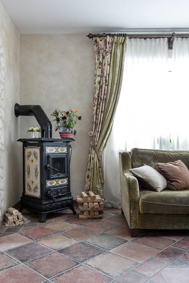 Печка с росписью
