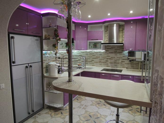 барная стойка в кухне