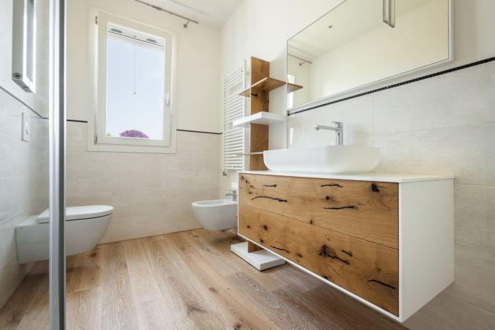 нейтральный оттенок пола в ванную
