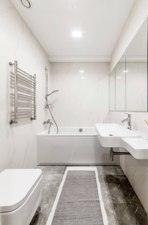 варианты ковриков для ванных