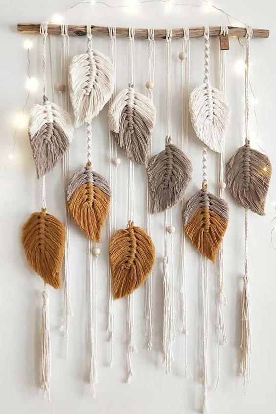 Макраме-листья