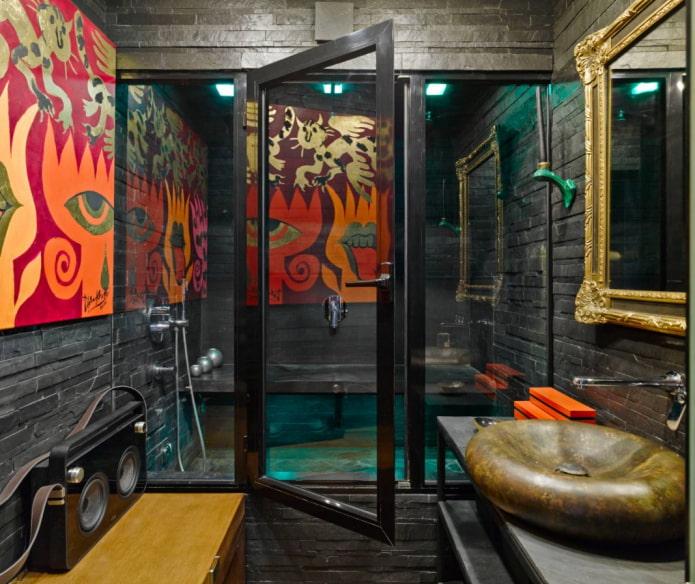баня в стиле лофт