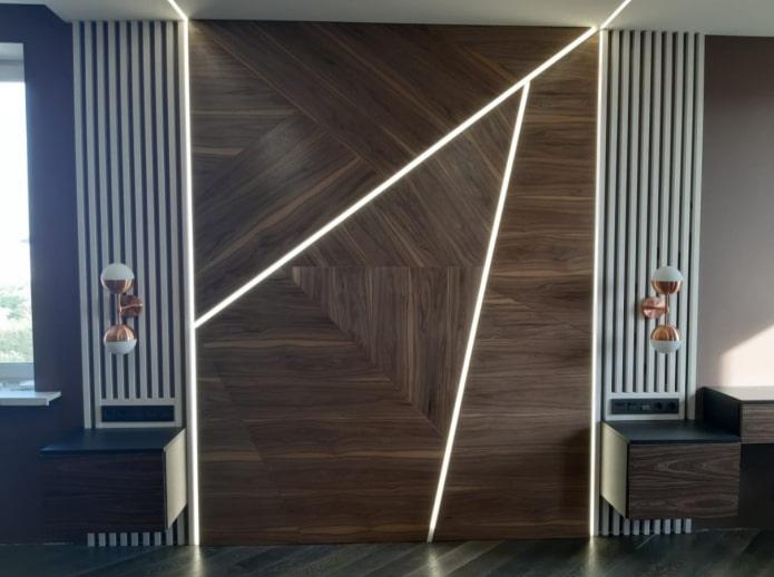 подсветка стен в интерьере
