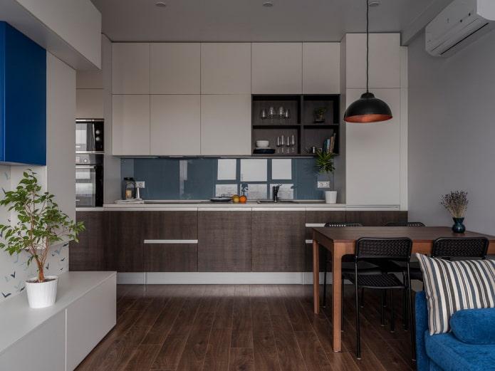 Как отделить кухню в студии?