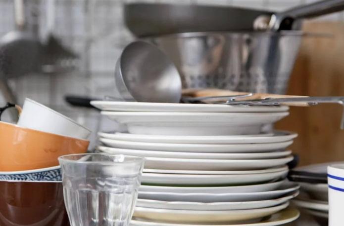 отсортированная посуда