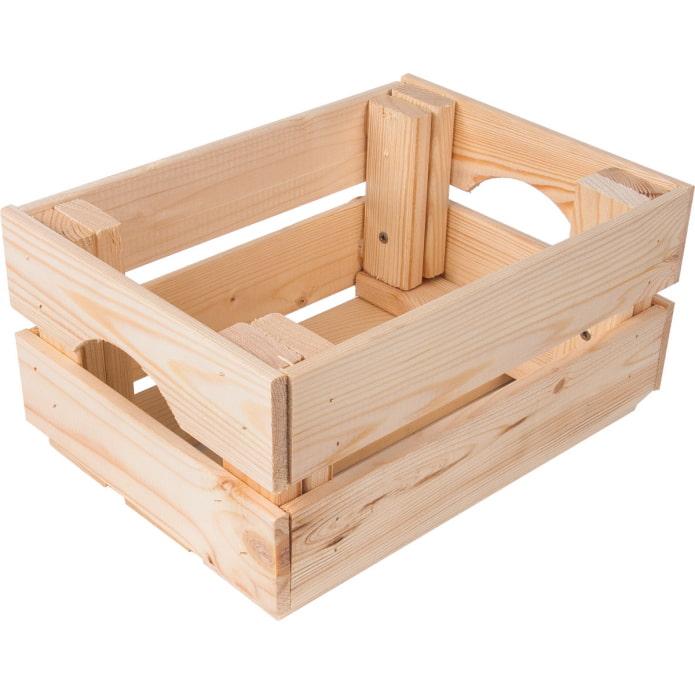 Ящик из хвои