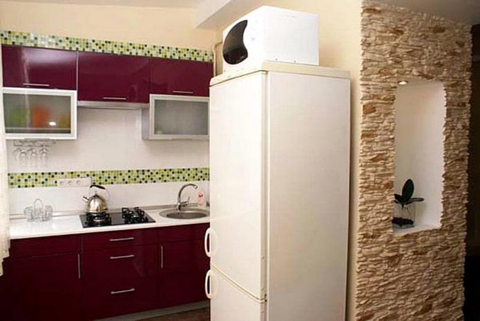 высокий холодильник