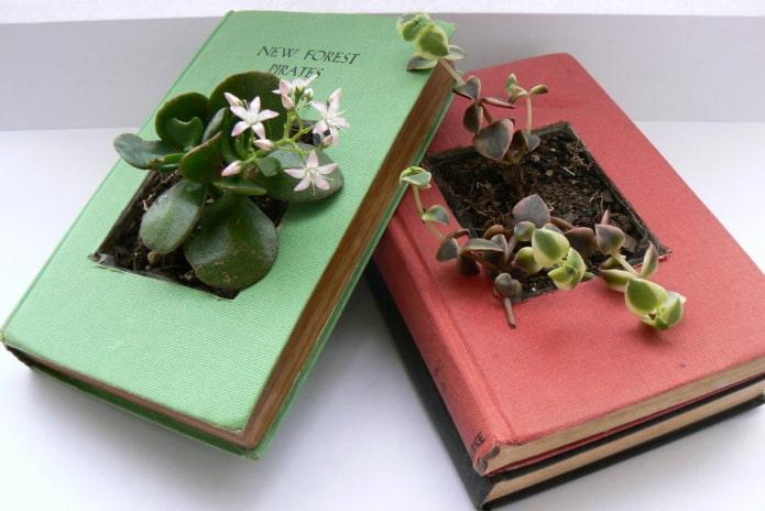 Кашпо из книг