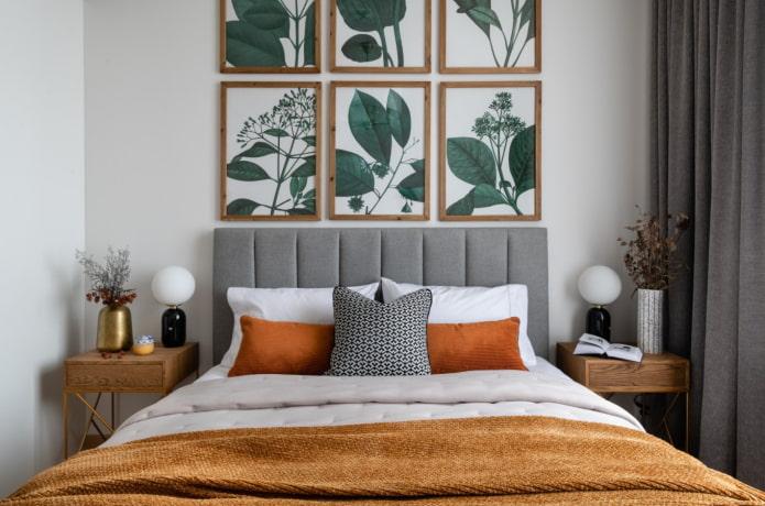 постеры в спальне над кроватью