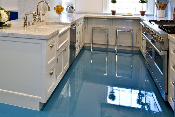 полимерный пол на кухне