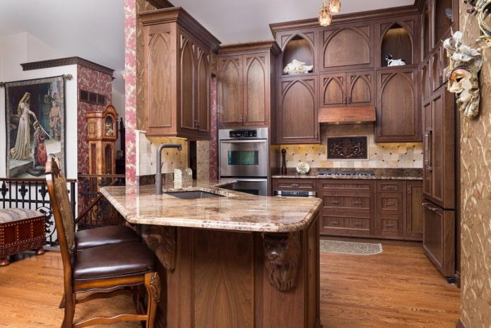 кухня в стиле готика