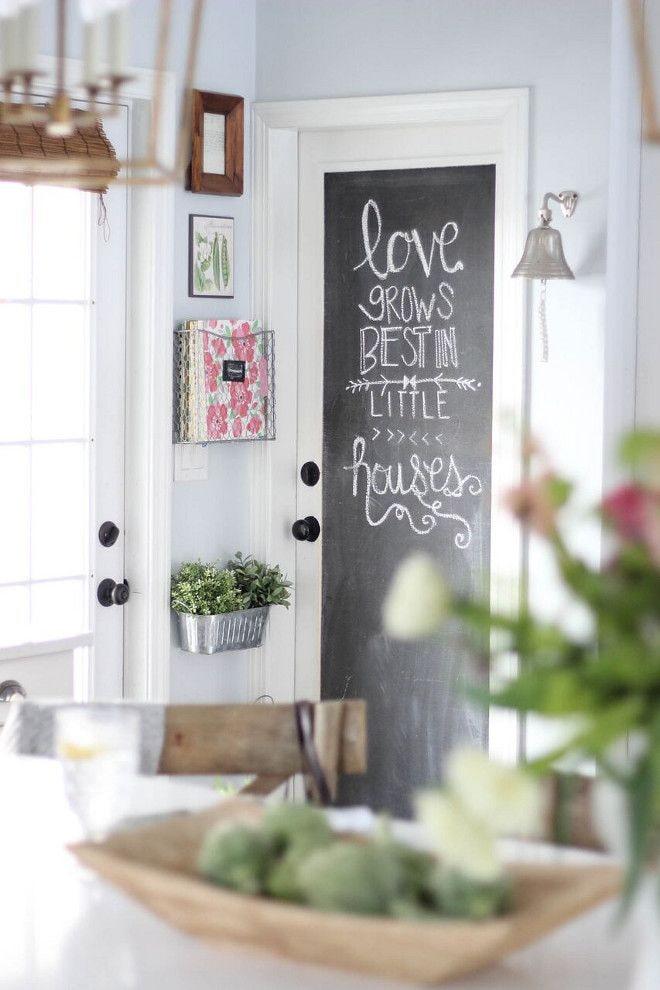Грифельная краска на двери