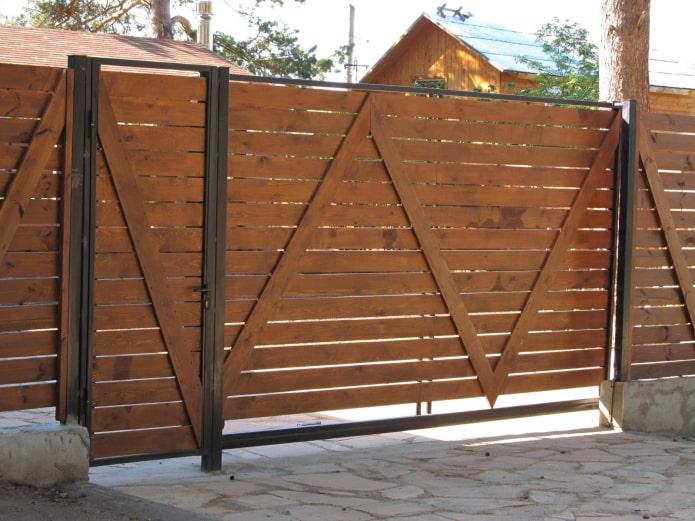 деревянные ворота с калиткой