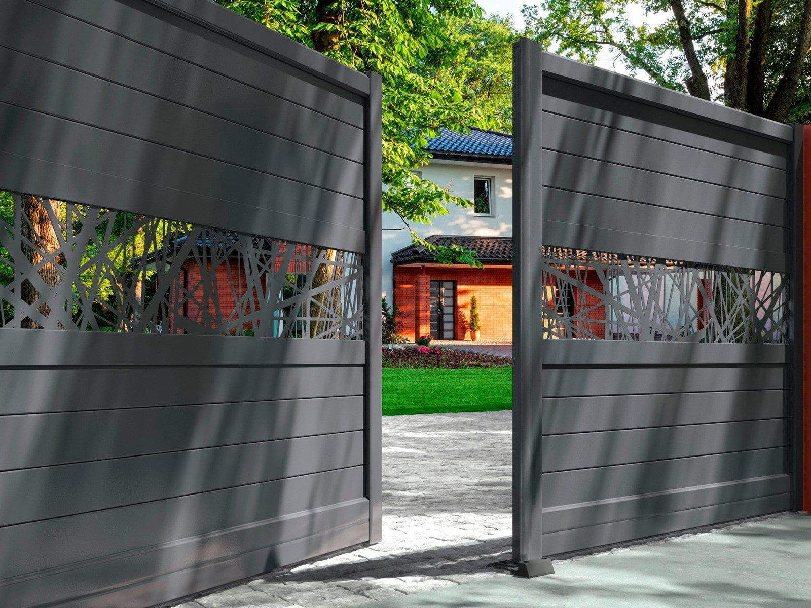 Какие ворота выбрать для частного дома? – виды, размеры и варианты дизайна (40 фото)