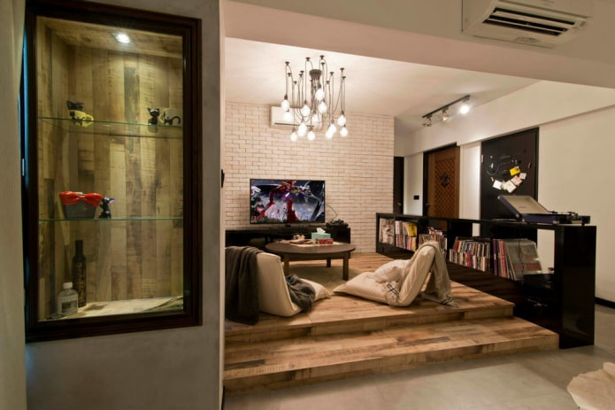 лаундж зона в квартире
