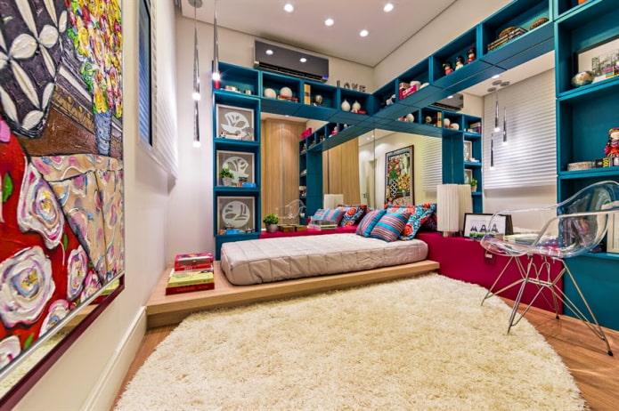 современная подростковая комната