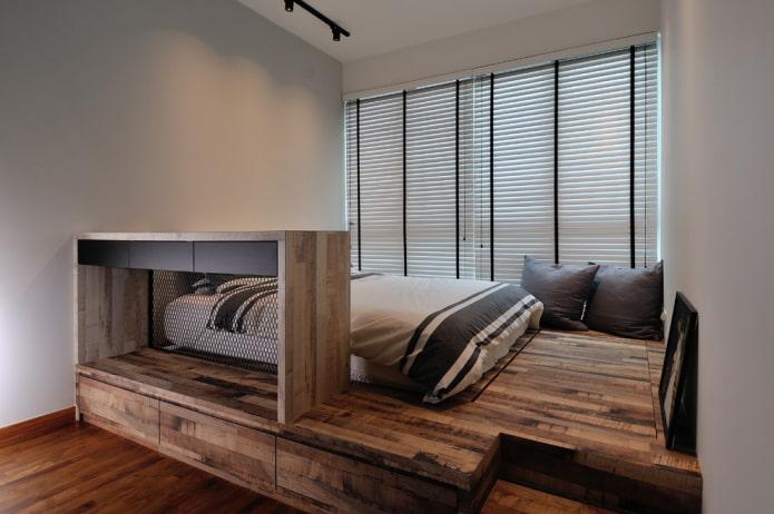 деревянный подиум
