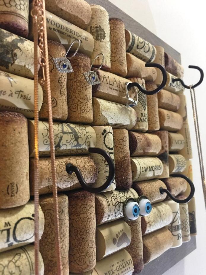 пробковый органайзер для бижутерии