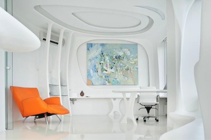 кабинет в белых тонах