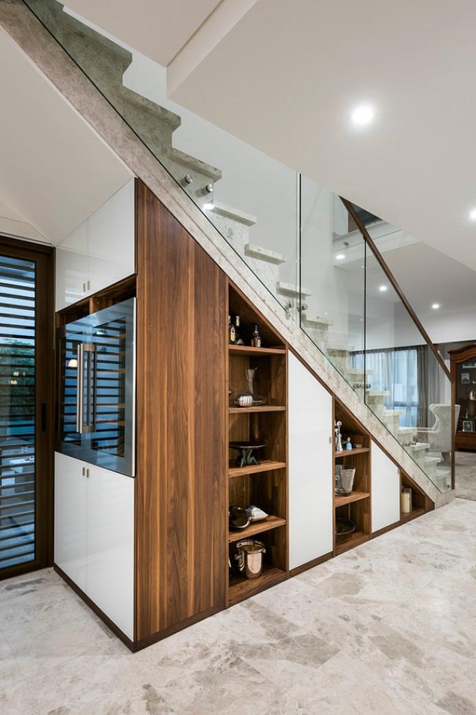 дизайн лестничного пространства