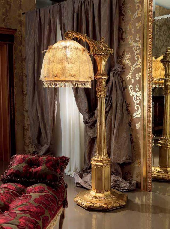 классический напольный светильник