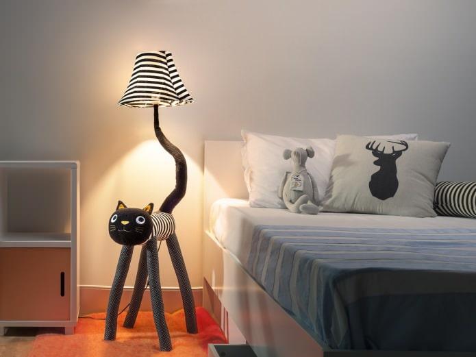 оригинальный детский ночник в форме кошки