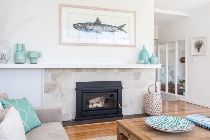картина с изображением рыбы
