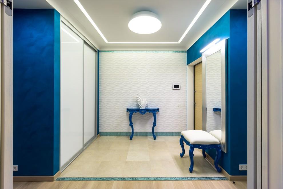 коридор в синем цвете фото широко используется как